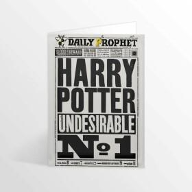 Carte de voeux La Gazette du Sorcier Harry Potter Indésirable Numéro 1