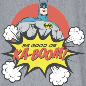 T-shirt Enfant Batman Be Good or Ka-Boom Gris-chiné