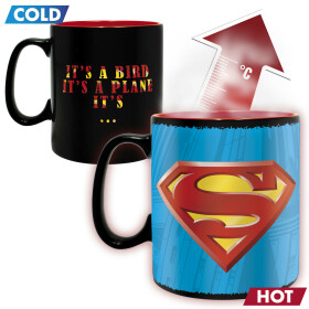 Mug Superman thermo réactif grande contenance