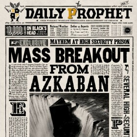 Carte de voeux lenticulaire Evasion Massive d'Azkaban MinaLima