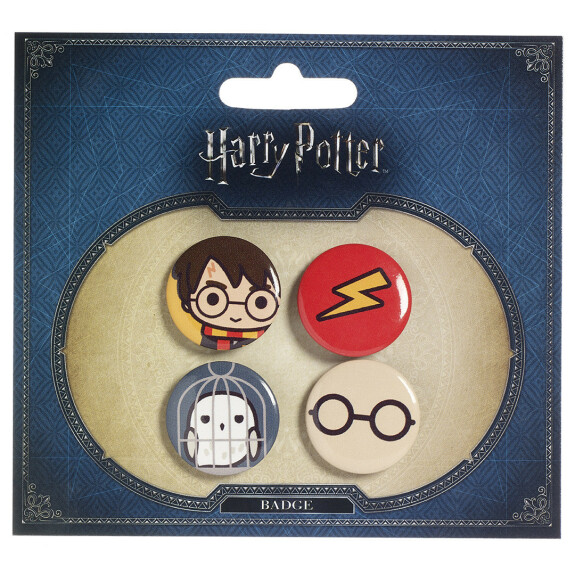 Ensemble 1 badges chibi Harry/Hedwige