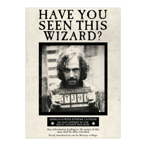 Poster Sirius Black Have you seen this wizard MinaLima