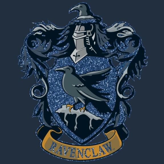 T-shirt Femme bleu et noir emblème Serdaigle