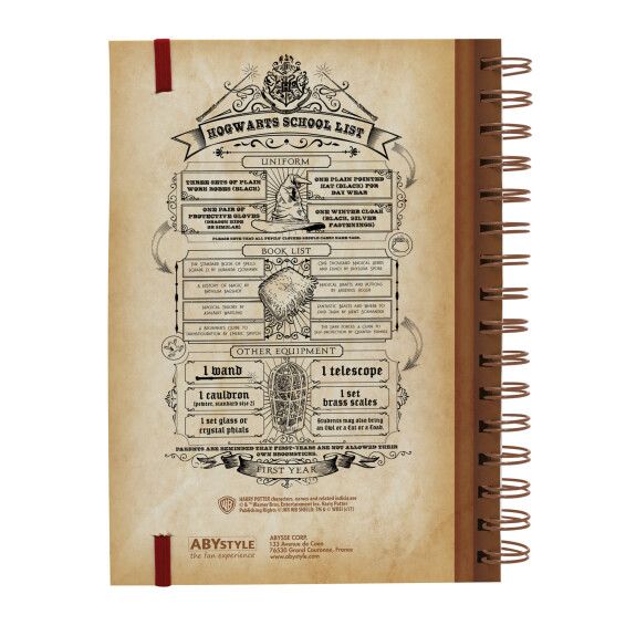 Cahier à spirale Hogwarts SchoolSpells and Charms