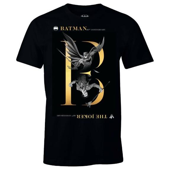 T-shirt Batman et Joker 80th Anniversary Noir