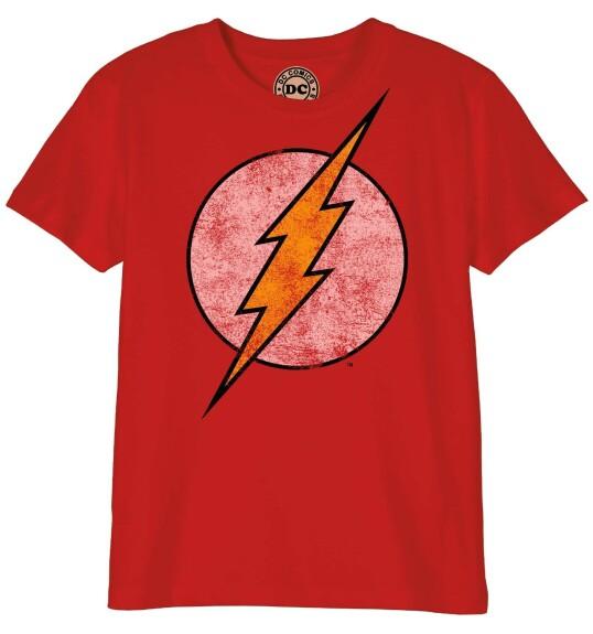 T-shirt Flash modèle enfant logo grunge