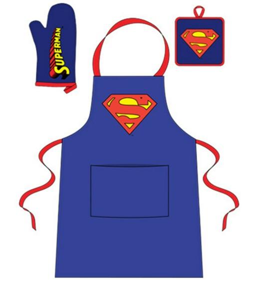 Set de cuisine Superman - Tablier Gant Manique