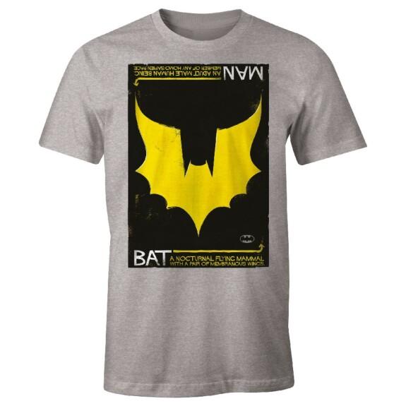 T-shirt Batman Man Bat Logo Gris