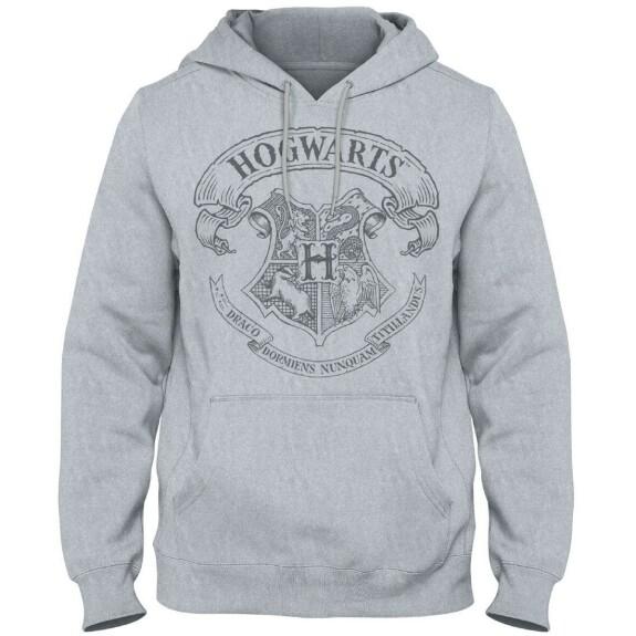 Sweatshirt Blason Poudlard gris