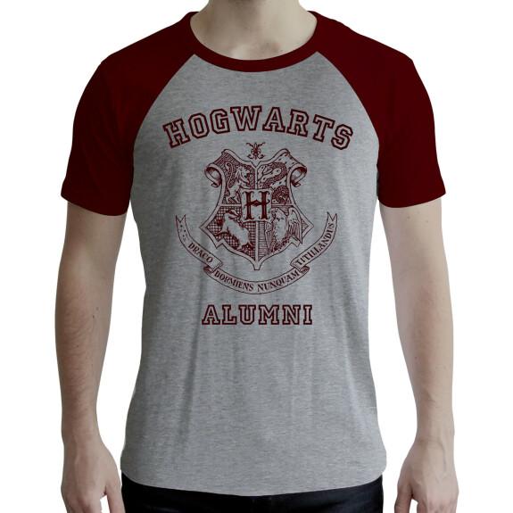 T-shirt Hogwarts Alumni gris et rouge
