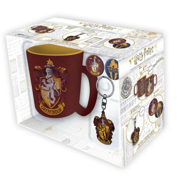 Pack Mug + Porte-clés + Badges Gryffondor