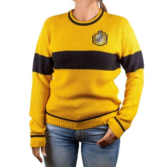 Pullover Femme Poufsouffle  jaune et noir