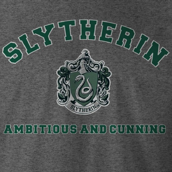 T-shirt Serpentard Ambitious and Cunning anthracite-chiné