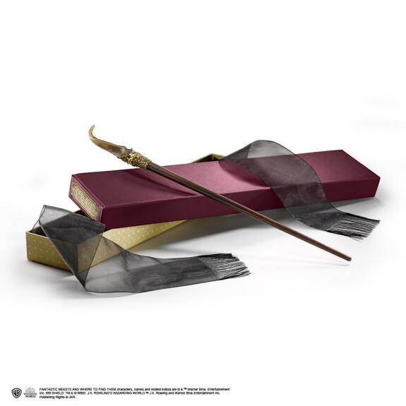 Baguette magique Nicolas Flamel l'alchimiste avec boîte Ollivander