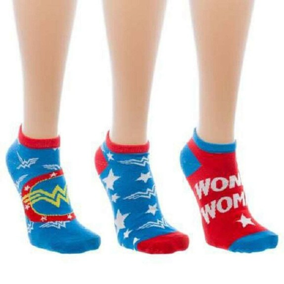 Chaussettes basses Wonder Woman 3 paires assorties