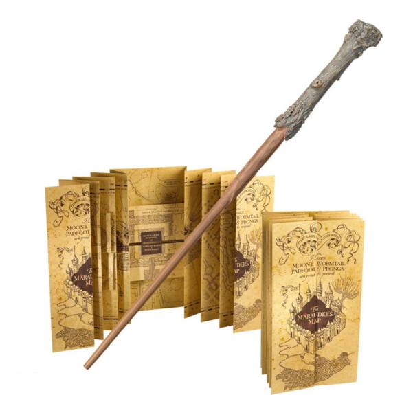 Pack baguette Harry Potter et carte du Maraudeur sous blister