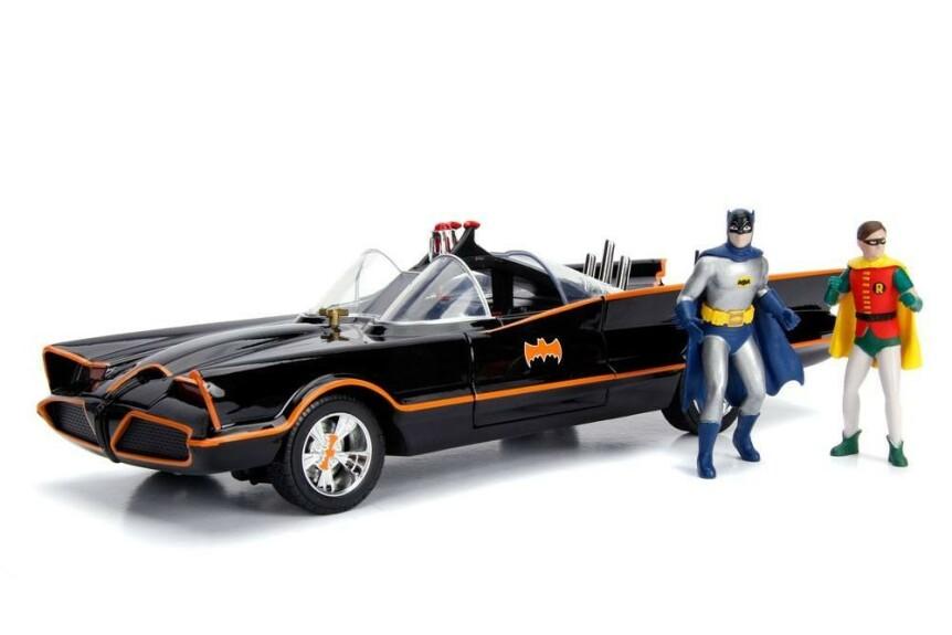 Batman et la Batmobile série TV 1966 1/18 Jada Toys