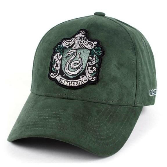 Casquette Serpentard verte avec patch visière arrondie