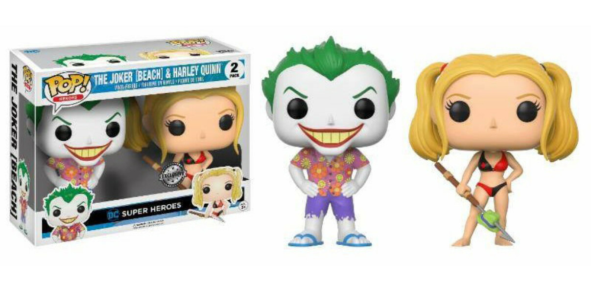 Le Joker et Harley Quinn Beach figurines Funko POP DC Super Heroes