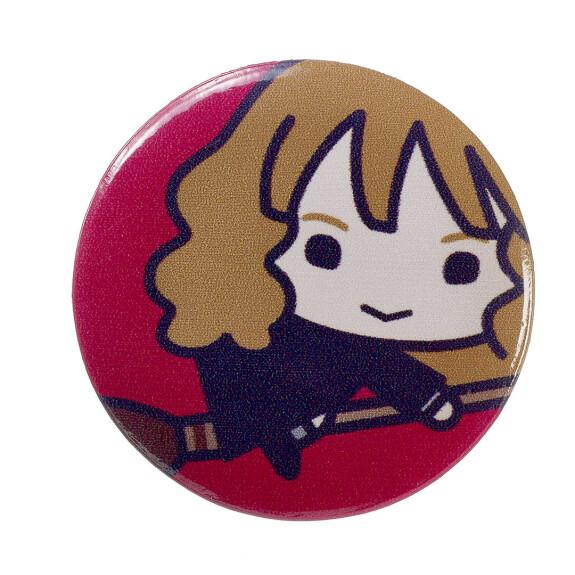 Lot de 4 badges chibi Hermione/Choixpeau
