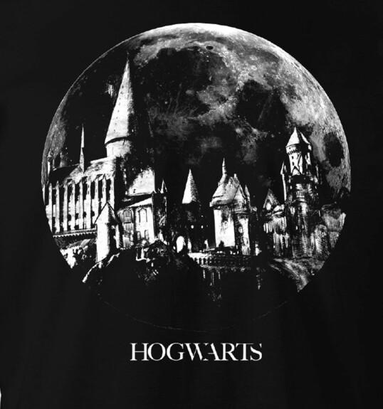 T-shirt Château Poudlard noir