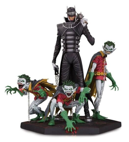 Batman et les trois minions Robin Dark Nights Metal 21 cm