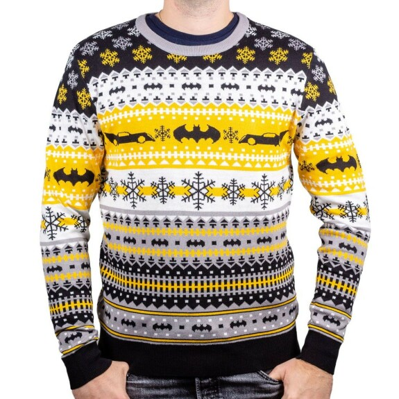 Pull-over Batman style Noël logo et batmobile
