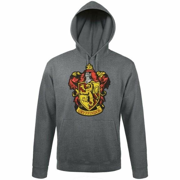 Sweatshirt Gryffindor Patch Anthracite Chiné