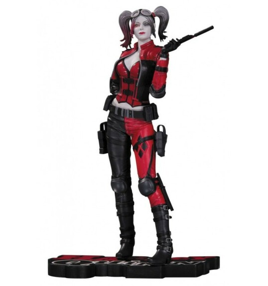 Harley Quinn Red Black and White statue jeu Injustice 2