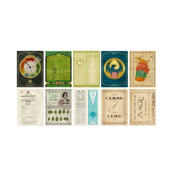 Lot de 20 cartes postales artefacts du MACUSA MinaLima