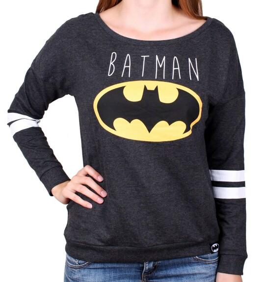 Pull-over Batman modèle femme logo classique