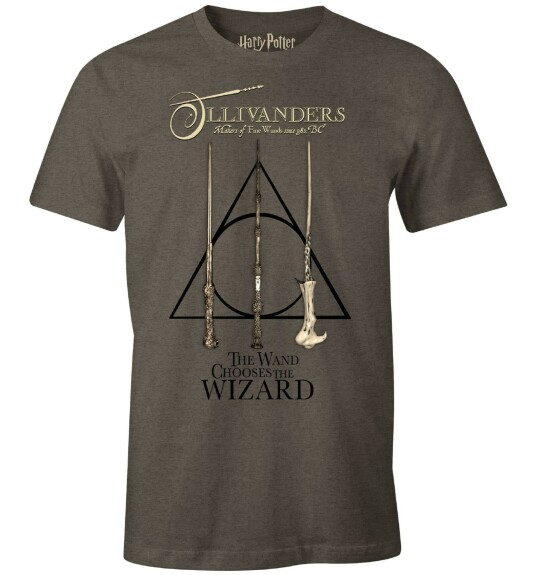 T-shirt Ollivanders baguettes anthracite-chiné