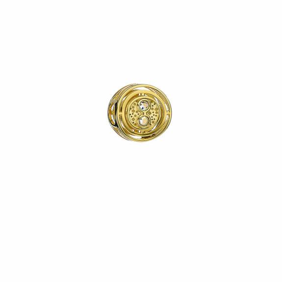 Perle Retourneur de temps plaqué or avec cristaux de Swarovski