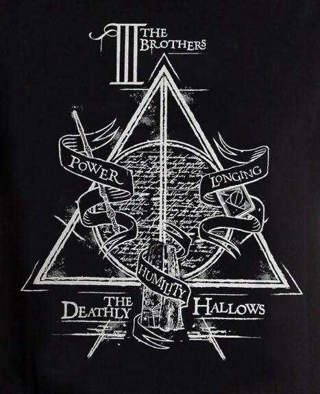 T-shirt Reliques de la Mort The Three Brothers noir