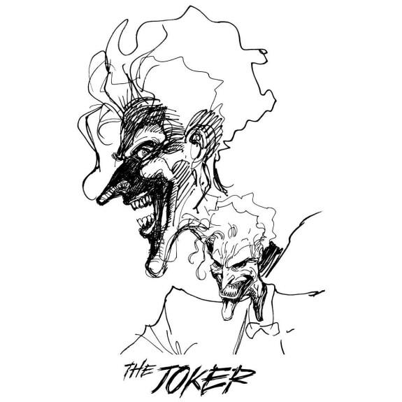 T-shirt The Joker Drawing by Jim Lee