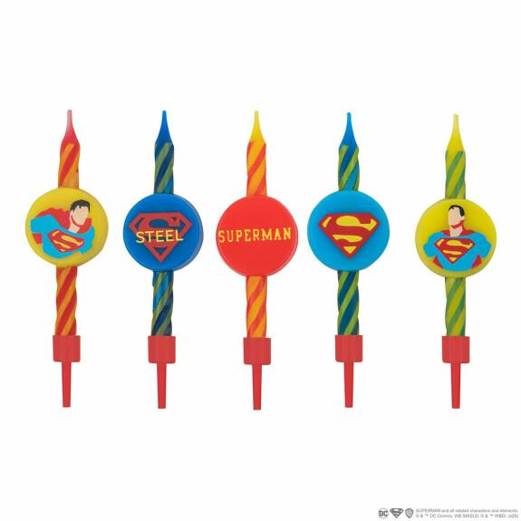 Lot de 10 bougies Anniversaire Logo Superman