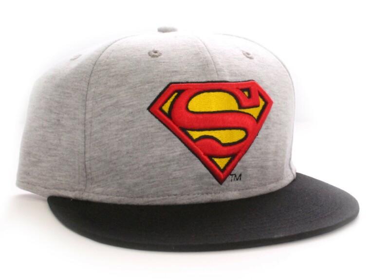 Casquette Superman gris chiné