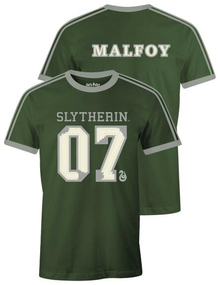 T-shirt Serpentard vert et gris Drago Malefoy