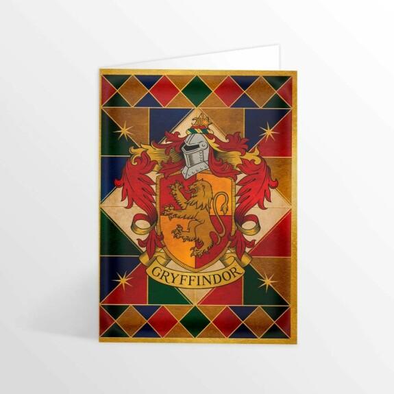 Carte 2 volets Blason de Gryffondor MinaLima