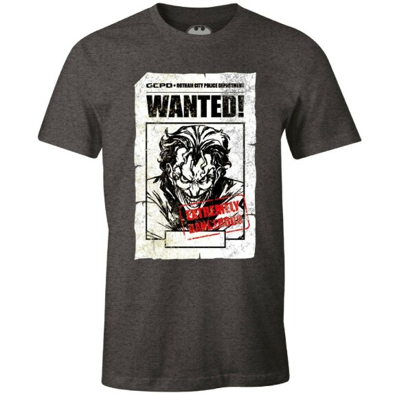 T-shirt Joker Wanted anthracite-chiné