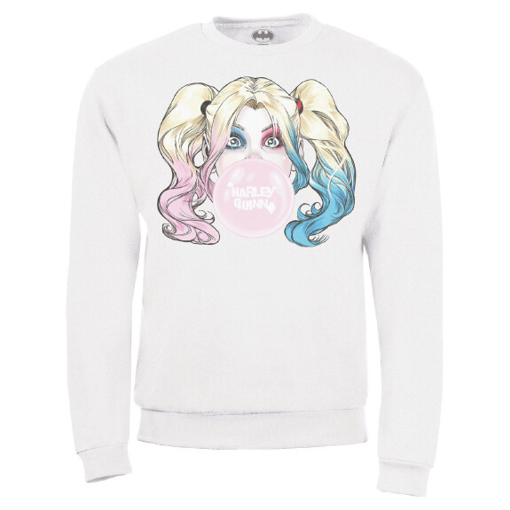 Sweat Femme Harley Quinn Bubble couleur blanc
