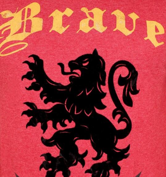 T-shirt Gryffondor Brave rouge