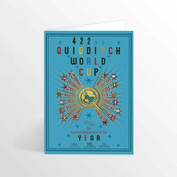 Carte 2 volets Coupe du Monde de Quidditch MinaLima