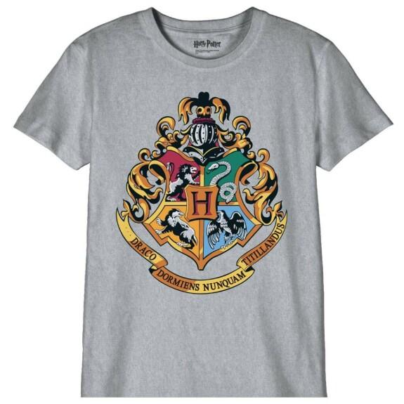 T-shirt Enfant blason Poudlard gris-chiné