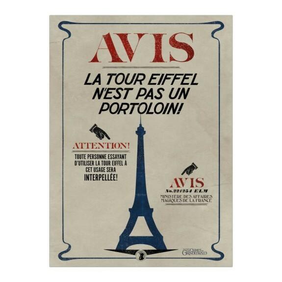Poster La Tour Eiffel n'est pas un Portoloin MinaLima