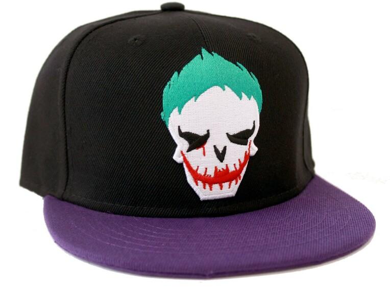 Casquette Joker logo tête de mort Joker Suicide Squad