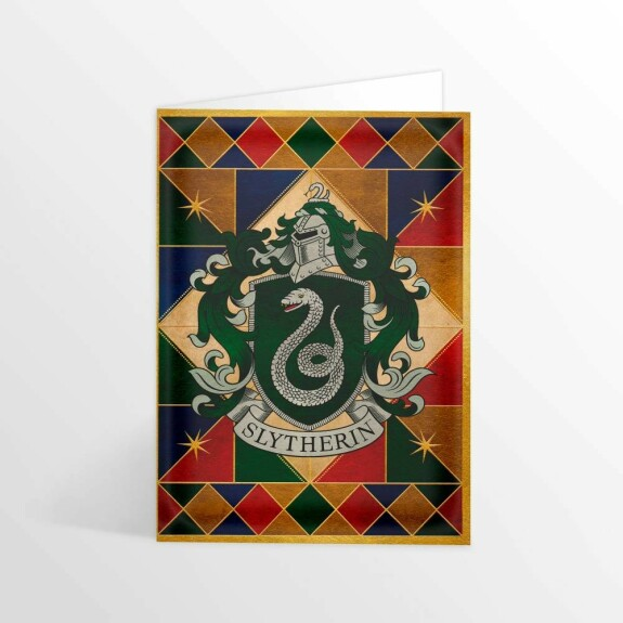 Carte 2 volets Blason de Serpentard MinaLima