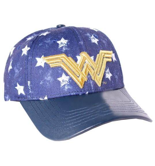 Casquette Wonder Woman étoiles et logo