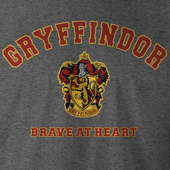 T-shirt Gryffondor Brave at Heart anthracite-chiné