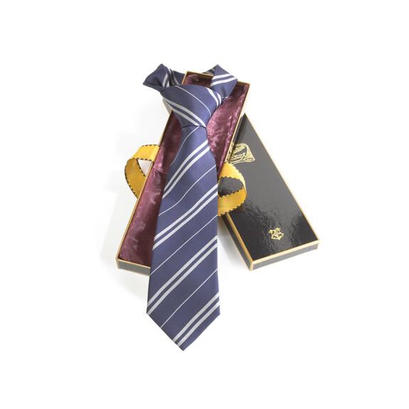 Cravate maison Serdaigle bleu et argent